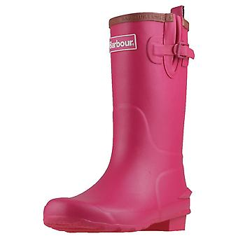 Barbour Simonside Womens Wellington Boots in Pink