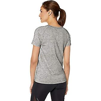 Brand - Core 10 Standard Women's Fitted Run Tee, medium heather grey, X-Large