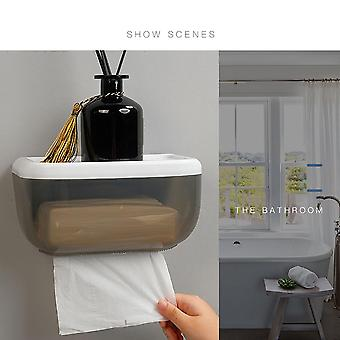 Wall Mounted, Adhesive Tissue Dispenser Box For Bathroom