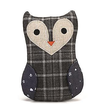 Conçu par Lotte Textile Toy Ully Owl - Gris - 23.5cm