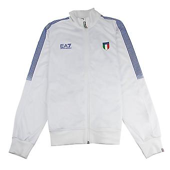 EA7 Italia Team Funnel Neck Giacca Bianca