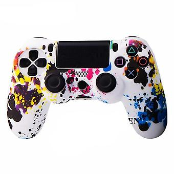 Silicone Camo Protective Skin Case For Sony Dualshock 4 - Ps4 Thumb Grips Joystick Caps