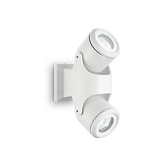 Ideel Lux Xeno - 2 lys udendørs væg lys hvid IP44, GU10