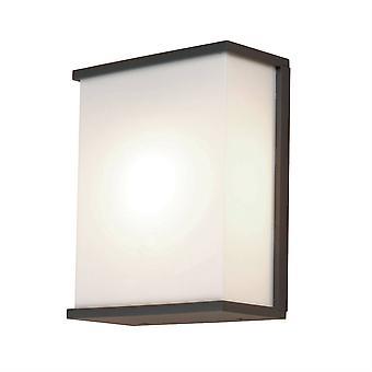 2 Light Large Wall Light - Dark Grey Finish, E27