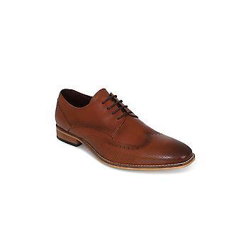 Cavani  Cavani Rome Tan Brogue Leather Shoe