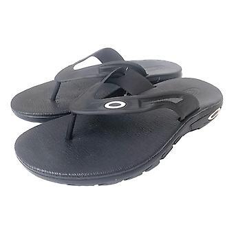 Oakley Ellipse Flip Flops - Jet Black