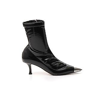 N°21 N219i877805050999 Women's Black Patent Leather Ankle Boots