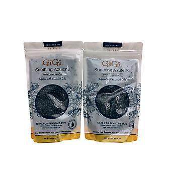 GiGi Soothing Azulene Hard Wax Beads 14 OZ Pack of 2