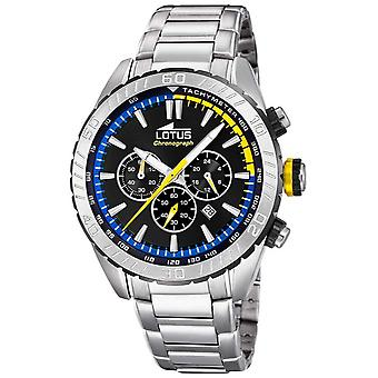 Lotus Men's Stainless Steel Bracelet | Black Chronograph Dial L18678/6 Watch