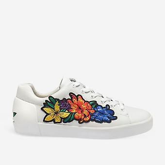 Ash Neo lenkkarit valkoisessa nahassa värillisillä kukilla