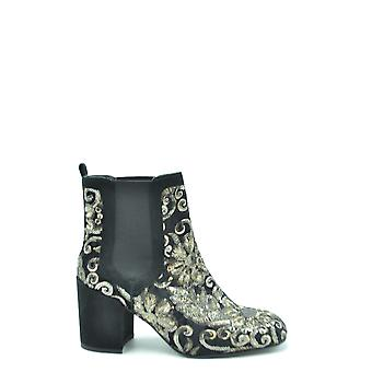 Stuart Weitzman Ezbc158033 Women's White/black Leather Ankle Boots