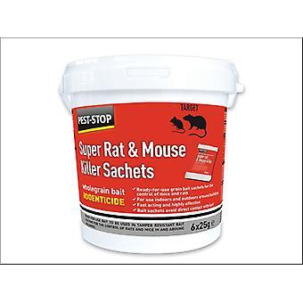 Pest Stop Super Rat/ Mouse Killer Sachet 6 x 25g PSSA05