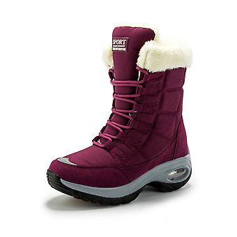 Warm Waterproof Mid-calf Winter Boots For Women