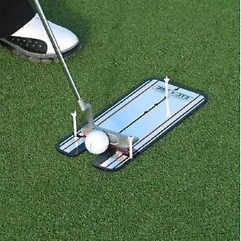 Portable Practice Golf Putting Mirror Alignment Training Aid Swing Eye Line