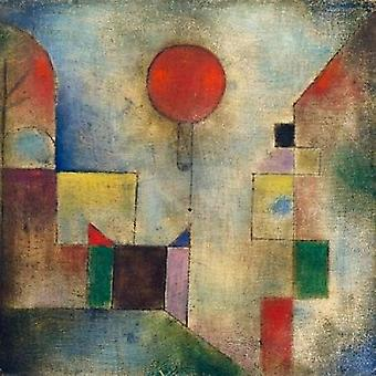 Red balloon Poster Print by  Paul Klee