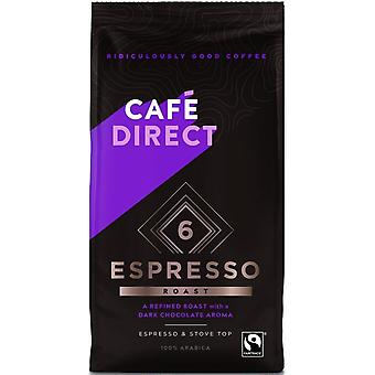 Cafedirect Fairtrade (FCR0001N) Arabica Espresso R&G Café 6x 227g