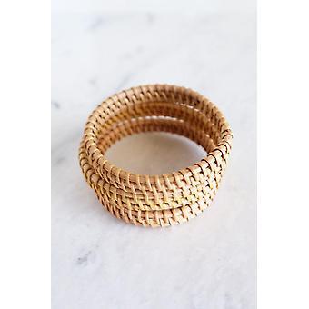 Natural Handwoven Rattan Bangle Bracelet