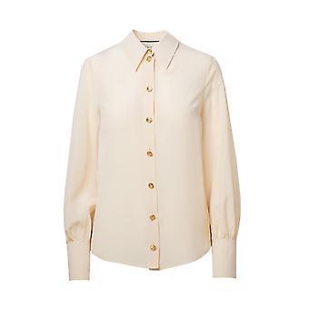 Gucci 609469zaaog9205 Women's White Silk Shirt
