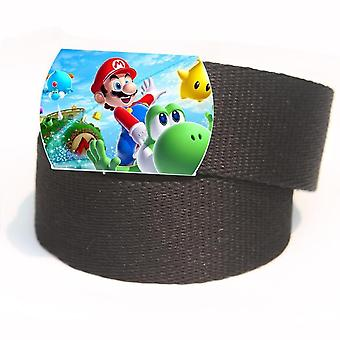 Super Mario Child Canvas Belt And, Students' Cartoon Portable Girdle Anniversaire