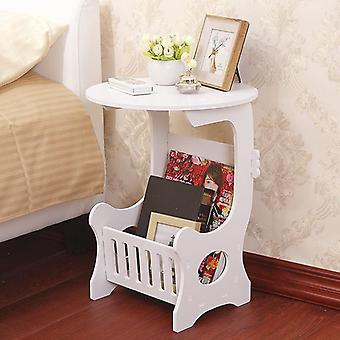 Mini Plastic Round Coffee Tea Table Home Living Room Storage Rack Table de chevet