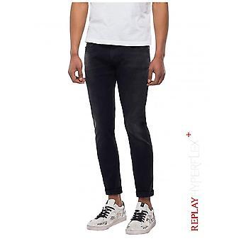 Replay Jeans Replay Hyperflex+ Slim Fit Anbass Premium Denim Jean - Black