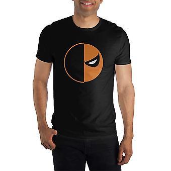 Dc Comics Deathstroke slade joseph wilson orange und schwarze Maske Männer's schwarzet t-shirt t-shirt