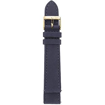 GV2 18mm Brown Suede Leather Strap Yellow Gold Buckle..