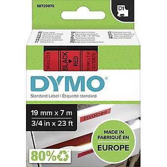 Etikettering tape DYMO D1 45807 Tape kleur: rood lettertype kleur: zwart 19 mm 7 m
