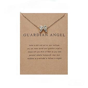 Guardian angel - necklace 18K gold plated gift angel wings