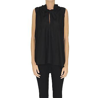 Christian Wijnants Ezgl608002 Women's Black Silk Top