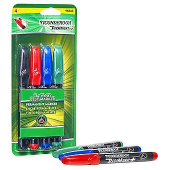 Redimark+ Chisel Tip Permanent Markers, 4-Color Set