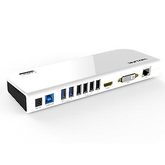 USB 3.0 צג וידאו כפול Dsiplay- Hdmi & Dvi/vga, שמע Ethernet Gigabit,