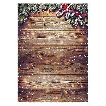 Allenjoy 5x7ft sněhová vločka zlato třpytky vánoční dřevěné stěny fotografie pozadí xmas rustikální stodola vint