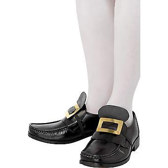 Smiffys berättelser om gamla england metall sko spänne med elastisk rem - guld