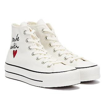 Converse All Star Lift Valentine's Day Hi Womens White Trainers