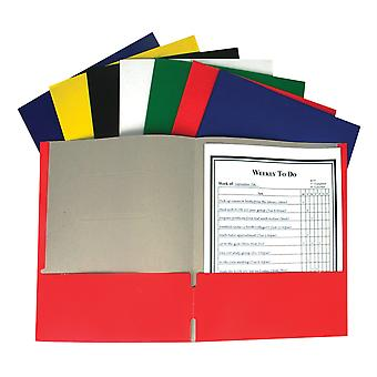 C-Line Recycled Paper Portfolio Without Prongs Assorted, 1Ea