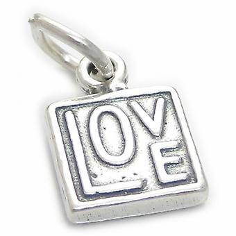 Double Sided Love Charm Sterling Silver .925 X 1 Loving Charms - 4043
