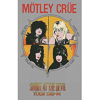 Motley Crue Poster Shout At The Devil ny officiell 70cm x 106cm Textil