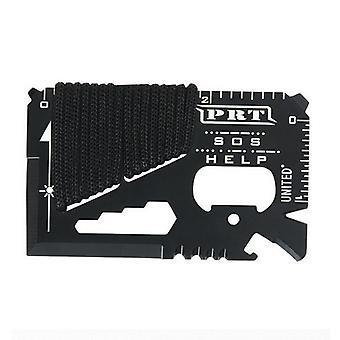 IPRee 14 in 1 Outdoor EDC Card Tools Kit Camping Emergency Survival Ruler Cutter Opener Moersleutel