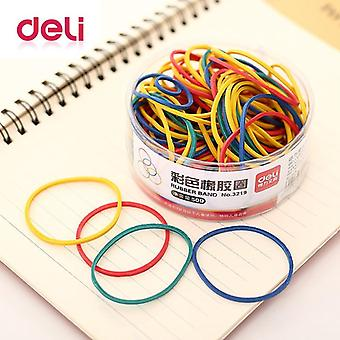 Deli 1 Pack 50g Colored Round Rubber Band Office Circle Rubber Band  Inancial