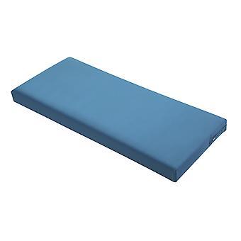 """Accesorios clásicos Ravenna Patio Banco /Settee Cojín Slip Cover & Foam - Cojín exterior duradero, Empire Blue, 48""""W X 18""""D X 3""""Thick"""