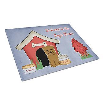 Caroline's Treasures Bb2814Lcb Dog House Collection Glen Of Imal Tan Glass Cutting Board, Grande, Multicolor