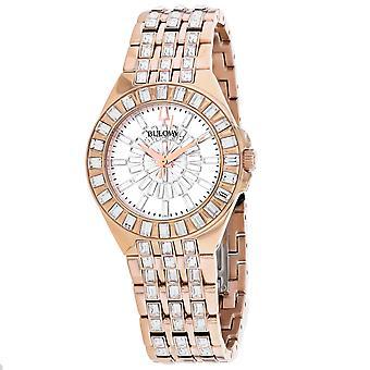 Bulova Women's Phantom White Dial Watch - 98L268
