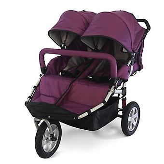 12-inch Rubber Wheel Twins Stroller, Baby Jogger Carriage, Double Kids Wagon