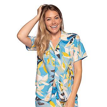 Cyberjammies Phoebe 4810 Women's Blue Floral Modal Pyjama Toppi