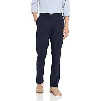 Essentials Men&s Athletic-Fit Casual Stretch Khaki Pant, Navy, 31W x 29L