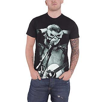 David Bowie Acoustics Aladdin Sane Contrast Official Mens New Black T Shirt