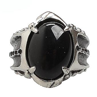 Punk Gothic Ring Gem Incrusté Titanium Steel Man Ring