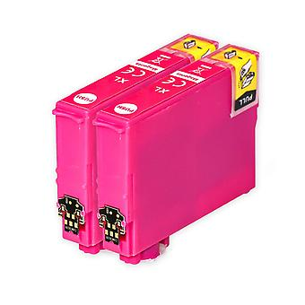 2 Magenta blækpatroner til at erstatte Epson 502XLM Kompatibel / ikke-OEM fra Go Inks