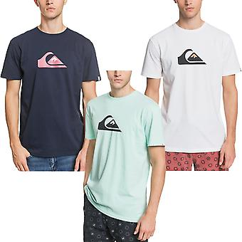 Quiksilver Mens Comp Logo Crew Neck Cotton Short Sleeve T-Shirt Top Tee